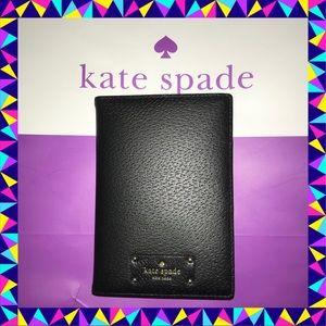 Kate Spade ♠️ Black Leather Passport & Card Holder